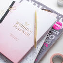 Luxury Engagement Gift, Wedding Planner Book Ombre