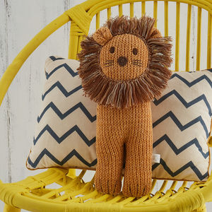 Soft Knit Lion Toy
