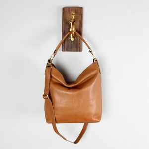 Tan Leather Hobo Shoulderbag