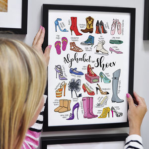 Alphabet Of Shoes Personalised Print