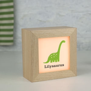 Personalised Dinosaur Lightbox - children's room