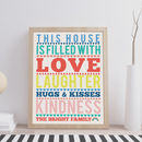 Personalised This House Is Filled With Love Print