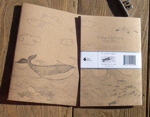 Whale 100% Recycled Notebook - writing