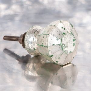 Antique Silver Glass Door Knob