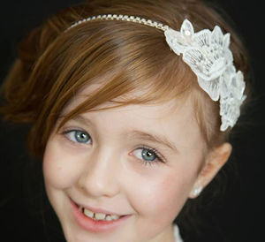 White Lace Headband - bridal hairpieces