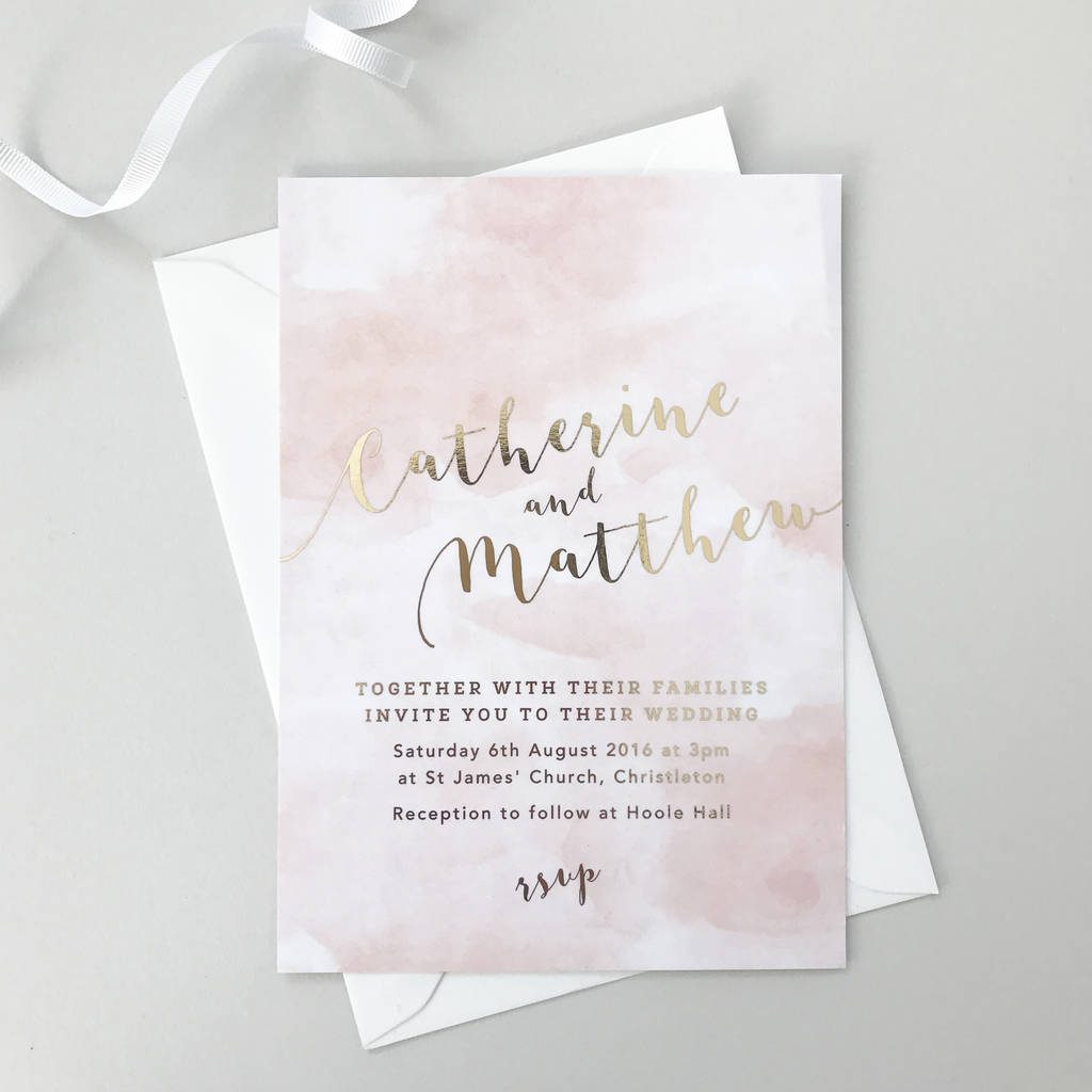 gold foil romance wedding invitations by project pretty ...