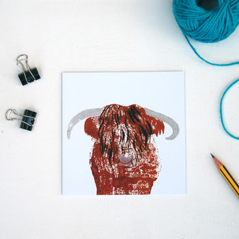 Highland Bull Greetings Card