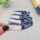I Like Big Books Embroidered Iron On Patch
