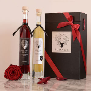 Valentine Raspberry Infused Gin And Citrus Vodka Set - food & drink