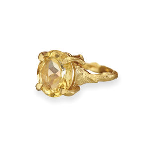 Drop In The Wild In Citrine And Gold - rings