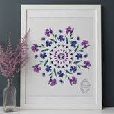 Birth Flower Mandala Personalised Print - prints & art