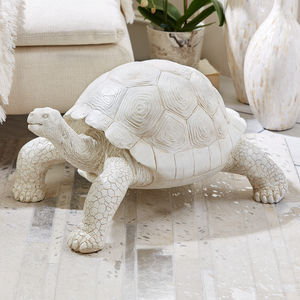 Galapagos Tortoise Resin Sculpture - art & decorations