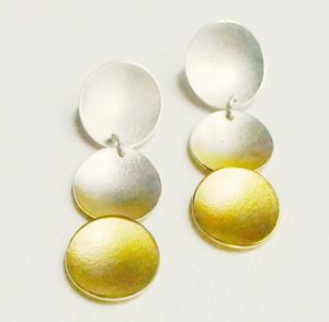 Electra Disc Triple Layer Drop Earrings
