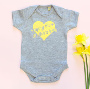 'Happy First Mothers Day' Baby Grow - 1st mother's day