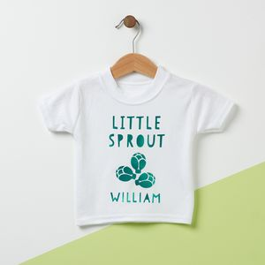 First Christmas Little Sprout Baby T Shirt