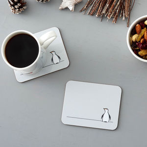 Penguin Coasters, Set Of Two