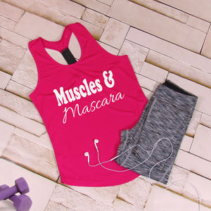 Gym Muscles And Mascara Tri Dri Vest - women's fashion