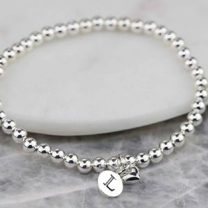 Personalised Solid Silver 'Mia' Heart Bracelet - winter sale