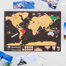 Deluxe Travel Scratch Off 'Push Pin' Map Bundle