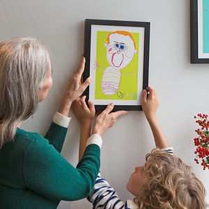 Personalised Portrait Print From Your Child's Drawing - gifts for grandparents
