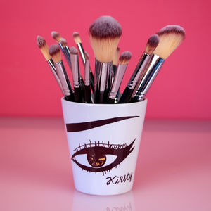 Personalised Make Up Brush Pot - beauty & pampering