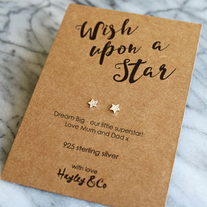 Wish Upon A Star Sterling Silver Earrings