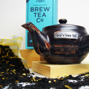 Personalised Brew Pot And Tea Set