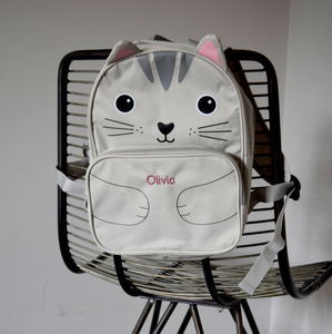 Personalised Kids Cat Back Pack - backpacks