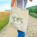 World Map Colour In Tote Bag
