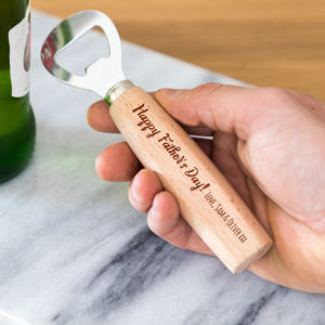 Personalised Happy Father's Day Bottle Opener - utensils