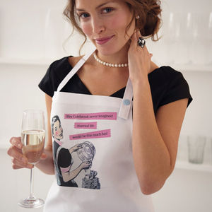 Personalised 'Married Life' Apron - best wedding gifts