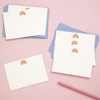 'Rainbow' Happy Notes Notecards X Eight