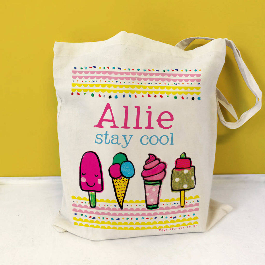 Personalised Ice Cream Beach Bag
