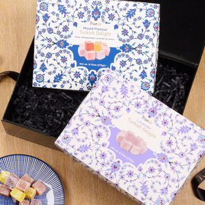 Lavender And Mixed Flavour Turkish Delight Gift Set - sweet hampers