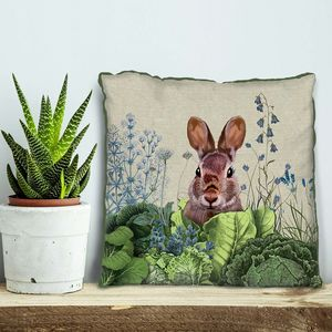 Cabbage Patch Rabbit Decorative Cushion Six - bedroom