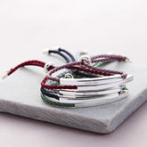 Sienna Sterling Silver Personalised Friendship Bracelet - women's jewellery