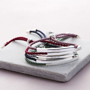 Sienna Sterling Silver Personalised Friendship Bracelet - 18th birthday gifts