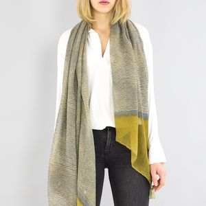 Personalised Olive To Grey Scarf - new in fashion