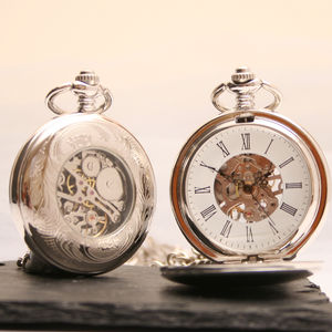 Antique Style Personalised Pocket Watch - mens