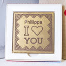 Personalised 'I Heart You' Valentines Chocolate Card