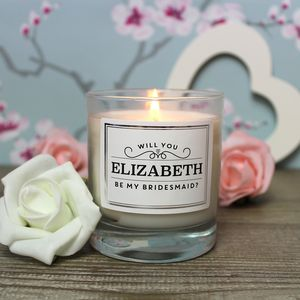 Will You Be My Bridesmaid? Personalised Candle