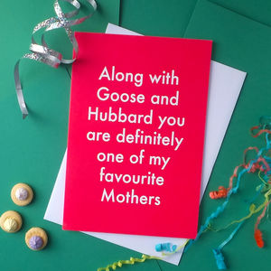 Favourite Mother Greetings Card - mother's day cards