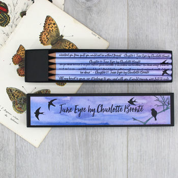 Jane Eyre By Charlotte Bronte Quote Pencils