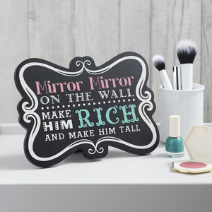 Mirror Mirror Painted Sign - decorative accessories