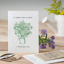 'If Friends Were Flowers…' Seed Card