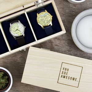 'You Are Awesome' Wooden Watch Box - new in jewellery