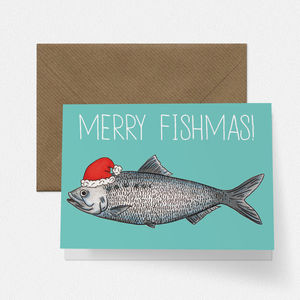 Merry Fishmas Greetings Card - funny christmas cards