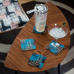 Boxed Set Of Midcentury 'Twilight' Coasters