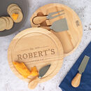 Personalised Cheese Board And Knife Set For Him