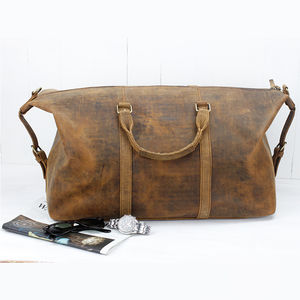 Leather Duffle Bag - bags